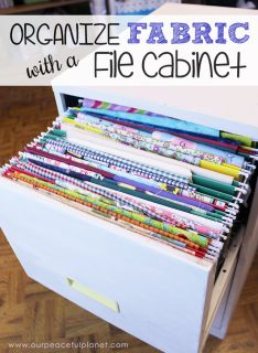 If you're a sewer or crafter with lots of small pieces of fabric lying around we've got a clever and unique way to organize fabric using a file cabinet!