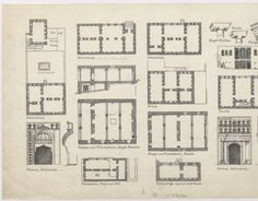 Kurdistan Region (Iraq and Iran): details and plans of houses and mosques in Sulaymaniyya, Kirind, Shaykhan and Tuwayla :: The Ernst Herzfeld Papers,Architectural Plan Architecture Sketch Pascal Coste, Kurdistan, Study Inspiration, Mosques, Architecture Plan, Urban Planning, Iran, Illustrators, Art Work