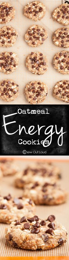 Oatmeal Energy Cookies (nut-free) - Loaded with nutrition, yummy, soft, and chewy. Great breakfast on-the-go, afternoon pick-me-up, or pre/post workout treat. #recipe #snack #healthy