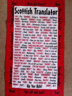 Scottish tea towel