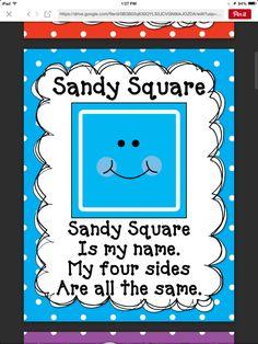 Square song Letter S Activities, Kindergarten Reading Activities, Shape Activities, Kindergarten Math Worksheets, Classroom Activities, Preschool Shapes, Teaching Shapes, Preschool Songs, Preschool Education