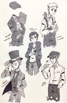 Millard, Enoch, Jacob, Horace, Hugh Not gonna lie, the protagonist (Jacob) is my least favorite out of these