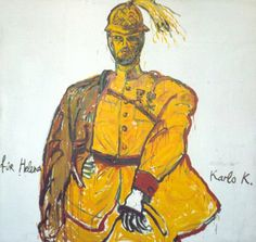 The General, 1988 Oil on canvas, 118 x 118 inches