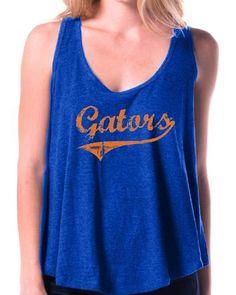 NCAA Florida Gators Ladies JR Retro Soft Drape Racerback Tank