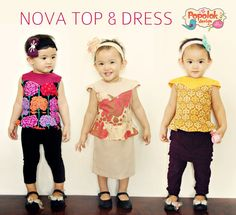 The Nova Top and Dress PDF sewing pattern available at Fairytale Frocks & Lollipops.  How sassy is this peplum top/dress for your little diva?!?  It's FABULOUS!!