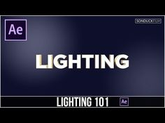 After Effects Tutorial: Lighting Basics 101 & How to use Lights - YouTube