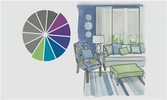 Decorating in Cool Colors  Bring calm to a room by decorating with cool colors. See how a color palette of green, blue, and purple can create a serene vibe while still welcoming color into a space.