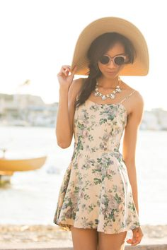 Yes this is a combination of a romper that looks like a dress! We love the darling floral print -...