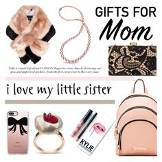 """""""Gift Guide: Your Mom and Sis"""" by littlehjewelry ❤ liked on Polyvore featuring Love Moschino, Kendall + Kylie, Kylie Cosmetics, Ted Baker, Casetify, giftguide, contestentry, pearljewelry, littlehjewelry and christmas2016"""
