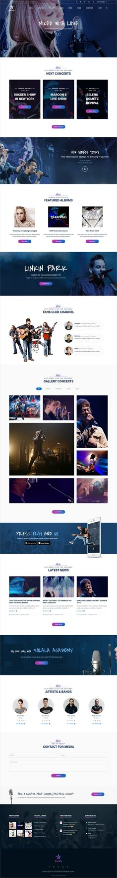 Solala is a wonderful 6in1 responsive #WordPress theme for #music, band, #artist, music industry, fanclub websites download now➩ https://themeforest.net/item/solala-music-wp-entertainment-band-music-wordpress-theme/19361975?ref=Datasata