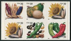 8 USPS stamps that celebrate food and agriculture Squashes, Three Sisters, Agriculture, North America, Seeds, Stamps, United States, Christopher Columbus, Food