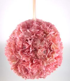 Carnation pomanders dazzled with floral jewelry are the perfect way to make your wedding look expensive and trendy while being budget savvy! Diy Wedding Bouquet, Diy Bouquet, Card Box Wedding, Wedding Flowers, Wedding Dress, Trendy Wedding, Gold Wedding, Dream Wedding, Flower Girl Bouquet