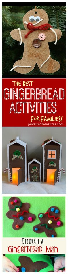 Looking for some fun gingerbread activities for your family? Check out this best of the best list that will make your family's fun night SPARKLE with holiday fun! @alicanwrite