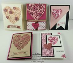 Stampin' Up! samples and techniques, the joys of beign a Stampin' Up! Demonstrator, sharing the art of stamping through Stampin' Up! Valentines Greetings, Valentine Day Love, Valentine Day Cards, Holiday Cards, Love Anniversary, Anniversary Cards, Wedding Card Design, Wedding Cards, Bloomin Love Stampin Up