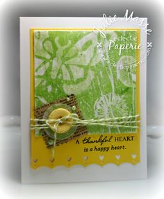 gelli plate card background | The sentiment is from a Wplus 9 set , it was perfect with the scripty ...