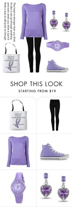 """Happy National Cancer Survivors Day!"" by emitschelen ❤ liked on Polyvore featuring Wolford, Ralph Lauren, Converse and Miadora"