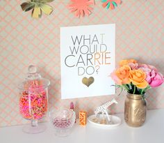 What Would Carrie (Bradshaw) Do? Gold Foil Print // Available at etsy.com/shop/shopmcbl