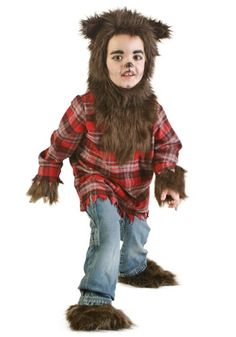 It looks like there's a full moon again because this little one is out on the prowl! This Toddler Werewolf Costume is the perfect scary costume for young kids.