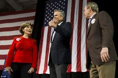 Laura Bush and George W. Bush came out in support of Jeb Bush too - an unusual move for the ex-president who has stayed out of the public eye throughout the Obama Administration