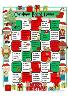 A collection of English ESL worksheets for home learning, online practice, distance learning and English classes to teach about christmas, christmas Christmas Riddles, Christmas Board Games, Christmas Worksheets, Kids Christmas Ornaments, Christmas Activities For Kids, Christmas Fun, Xmas, English Worksheets For Kids, English Games