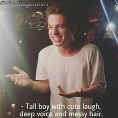 What all girls need is a Charlie Puth kinda man ❤️❤️❤️ Charlie Puth, Charlie Charlie, King Of Music, Dear Future Husband, Cute Celebrities, Guys And Girls, Shawn Mendes, Cute Guys, Celebrity Crush