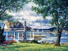 Cottage in the Islands by Randy Van Beek