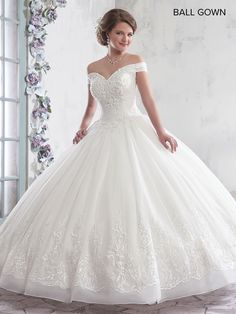eacdd0ceb9 Off the Shoulder Lace Wedding Dress by Mary s Bridal Bridal-ABC Fashion
