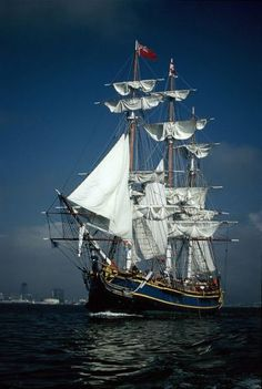 Here's another image of the HMS Bounty, though I'm not sure what city is in the background.