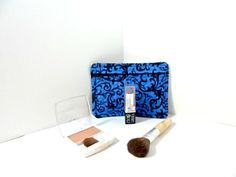 Quilted blue make up bag by TheQuiltHandler on Etsy, $12.00