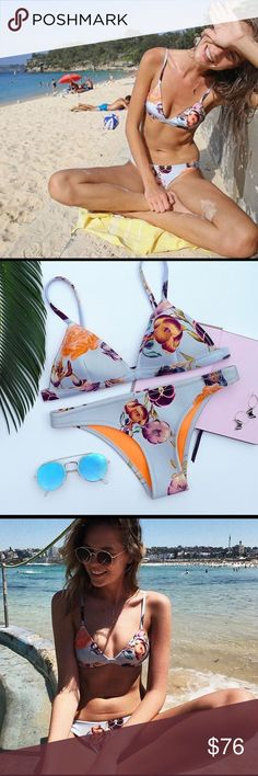 TRIANGL Petra-Lilac Swimsuit set+bag In perfect condition. Top and Bottom are size Small and comes with a matching backpack. Super comfortable, and a great color. I do not trade but always open to offers triangl swimwear Swim Bikinis