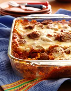 "We can't decide what we love most about this hearty lasagna--the easy meatball filling or the fact you can make it up to eight hours ahead of time!  ""I'll never make the standard version of lasagna again!"" says Betty member Muffy2424."