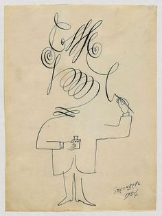 Saul Steinberg, Self-portrait, 1954 (via Pinterest)