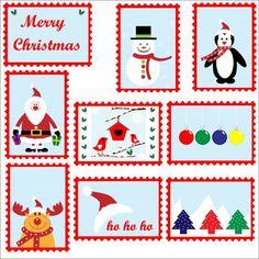 Christmas Postage Stamps Template
