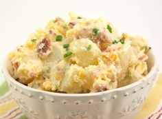 Baked Potato Salad- Oh my goodness gracious I want this right now!