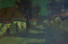 Charles Rollo Peters Moonlight 12x18 Oil on Canvas