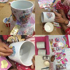 We are making Shopkins Pen Pots @shopkins_world #shopkins #art #craft #creative #kid #fun #activity #creativity #design #ideas #happy #stickers #cute #pen #pot