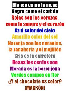 poesia colores