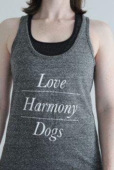 LOVE   HARMONY   DOGS   <3  #dogs #hundeliebe #tanktop #biobaumwolle #onlineshop #hundeliebhaber #yoga Yoga, Tank Tops, Pets, Women, Fashion, Cotton, Moda, Halter Tops, Women's