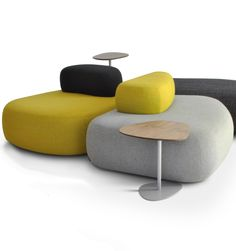 Hitch Mylius presents the contemporary upholstered furniture in London #yellow