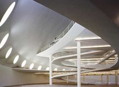 Designed byBrazilian architect Oscar Niemeyer when he was 89 (born in Dec. 1907, he is now 104)- Contemporary Art Museum in the city of Niterói, state of Rio de Janeiro (across The Niterói bride from the city of Rio de Janeiro), Brazil (Brasil)