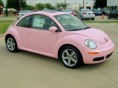 Pink Volkswagen Beetle - Here ya go Tay!  Oh wait...you did want pink, right?