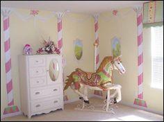 Carousel Horse For Nursery Circus Bedroom Themes