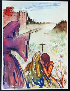 "Salvador Dali, Illustration for ""Romeo and Juliet"", 1975 Rizzoli and Rizzoli edition"