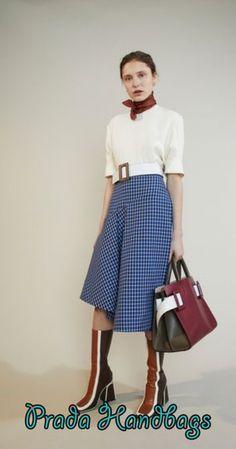 High Waisted Checkered Skirt by MARNI for Preorder on Moda Operandi Prada Purses, Prada Handbags, Checkered Skirt, Parisienne Chic, Fashion Company, Street Chic, Marni, Work Wear, Womens Fashion