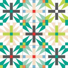 Leila has the coolest (free!) paper piecing pattern for her quilt along!