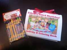 Daniel Tiger Coloring Book and Crayon Favors - Personalized on Etsy, $20.00