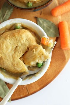 1 Hour Vegan Pot Pies - Topped with flaky, from scratch #vegan biscuits - so creamy, delicious and comforting! | Minimalist Baker Recipes