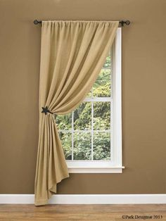 Burlap Curtain Ideas | Change to ruffled top