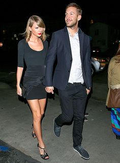 After remaining coy about her relationship status for weeks, Taylor Swift stepped out with her new boyfriend Calvin Harris on Tuesday, May 12, and proudly held his hand.