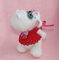 Hippo from Chernyshok Crochet Hippo, Kawaii Crochet, Crochet Animal Amigurumi, Cute Crochet, Crochet Animals, Amigurumi Patterns, Crochet Toys, Knit Crochet, Amigurumi Toys